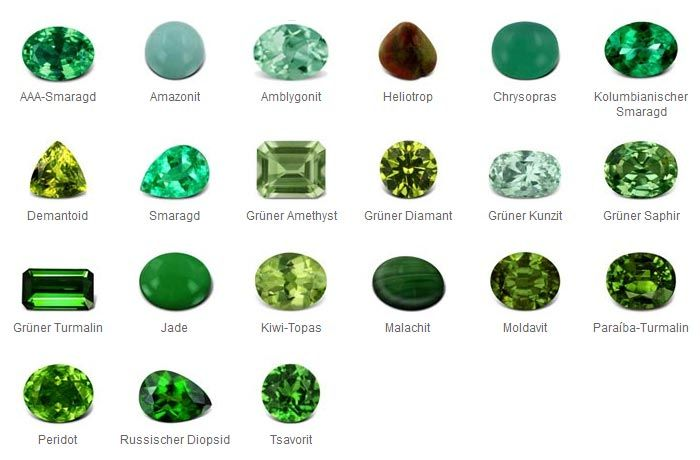 grüne Edelsteine                                                                                                                                                                                 Mehr