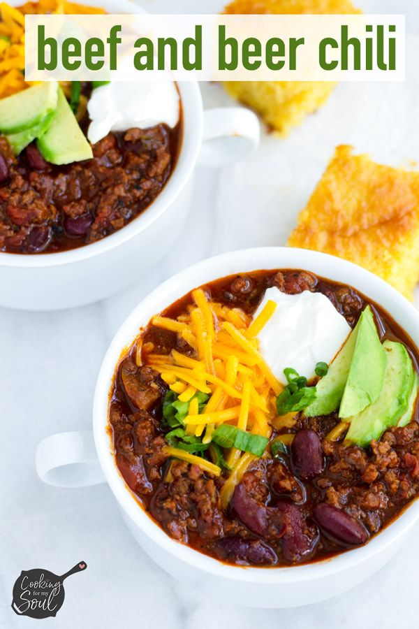 Easy Beef And Beer Chili Recipe Cooking For My Soul Recipe Cooking Recipes Beer Chili Beef