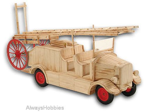 Match Craft Fire Engine circa 1930 Matchstick Kit - available from Hobbies, the UK's favourite online hobby store!