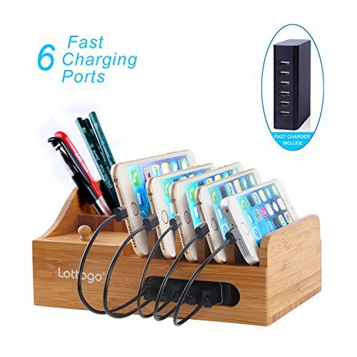 Lottogo Bamboo Charging Station Multi-Device Organizer Fast Charge with Smart IC USB Charger for iPhone iPad Smartphone and Other USB Compatible Devices  http://topcellulardeals.com/product/lottogo-bamboo-charging-station-multi-device-organizer-fast-charge-with-smart-ic-usb-charger-for-iphone-ipad-smartphone-and-other-usb-compatible-devices/  One docking station for all, you can charge your multiple devices at the same time. Including USB charger with smart IC provides fastes