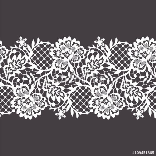 "Download the royalty-free vector ""Lace Ribbon Seamless Pattern"" designed by Ajuga at the lowest price on Fotolia.com. Browse our cheap image bank online to find the perfect stock vector for your marketing projects!"
