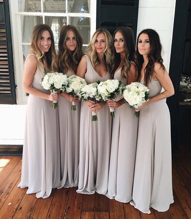 Neutral Bridesmaid Dresses Pinterest