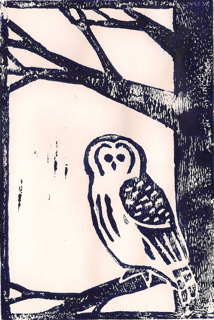 how to do cheap linocutting -- like a woodblock print, but with linoleum