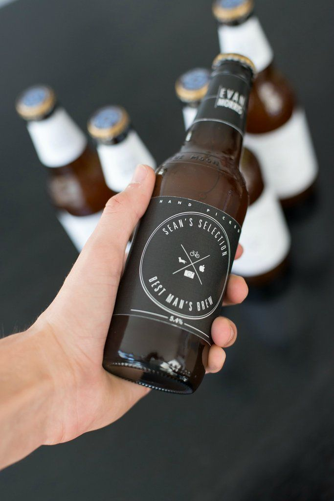 DIY custom beer bottle labels. Love this for the men since it always seems its only about the bride