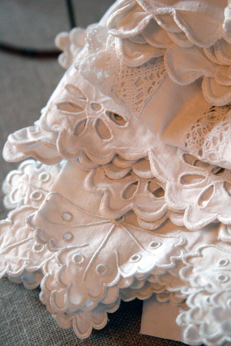Shabby Chic Lace Crochet Linen Antique lace
