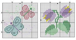 Tiny Bib Designs from DMC for the little flamingo's Bib
