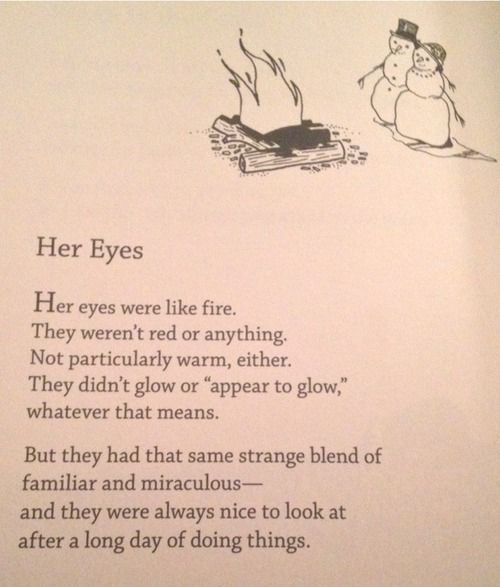 """""""Her Eyes"""" ...they were always nice to look at after a long day of doing things."""