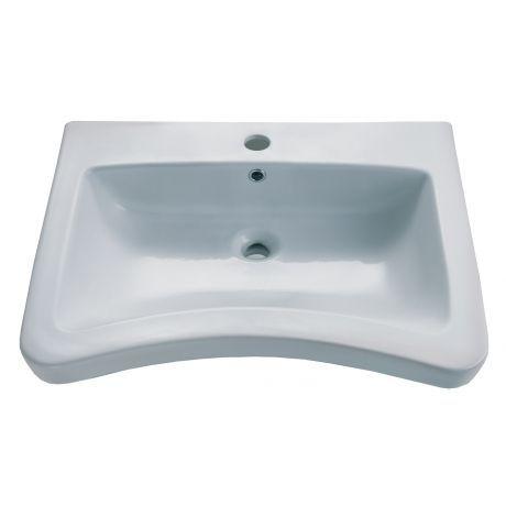 ever Style 47 Keramik Waschtisch, unterfahrbar mit Hahnloch, weiß - 71,5cm breit