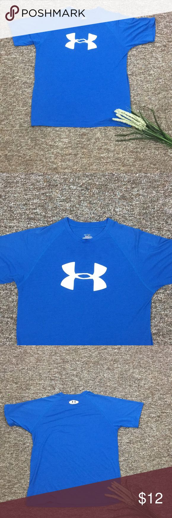 Under Armour Youth Boys Blue T Shirt Under Armour Heat Gear Youth Boys T - Shirt. Size Youth Large, Blue.          M - 10 - 1 Under Armour Shirts & Tops Tees - Short Sleeve
