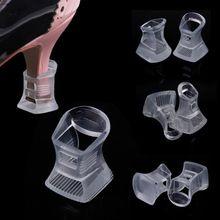 1 par claro Footful alto talón del estilete protectores cubre tapones partido nupcial de la boda sml(China (Mainland))