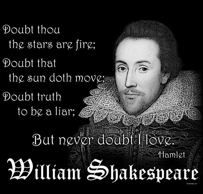William Shakespeare Hamlet Quote T Shirt DOUBT thou the ...