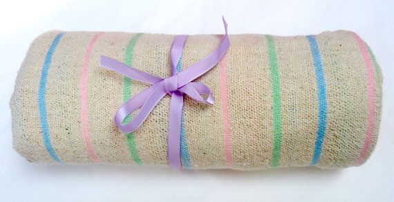 Unisex Baby Blanket  100 Hand Woven Cotton  Ultra by MathildeAndCo, £16.00