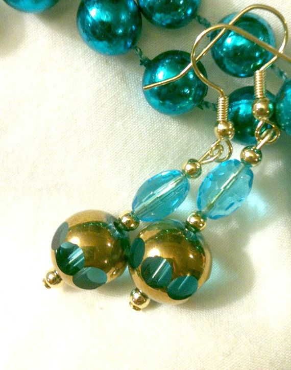 Blue Crystal Waters by ForHerEarsOnly on Etsy,\