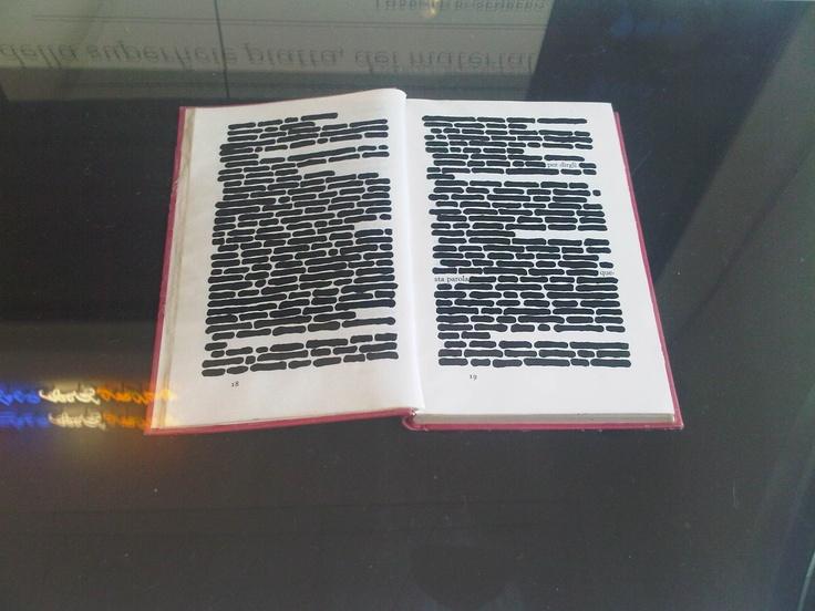 Il libro cancellato, al Museo del Novecento di #Milano