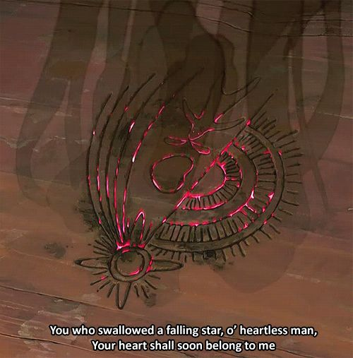 You who swallowed a falling star, o' heartless man, Your heart will soon belong to me - Howl's Moving Castle