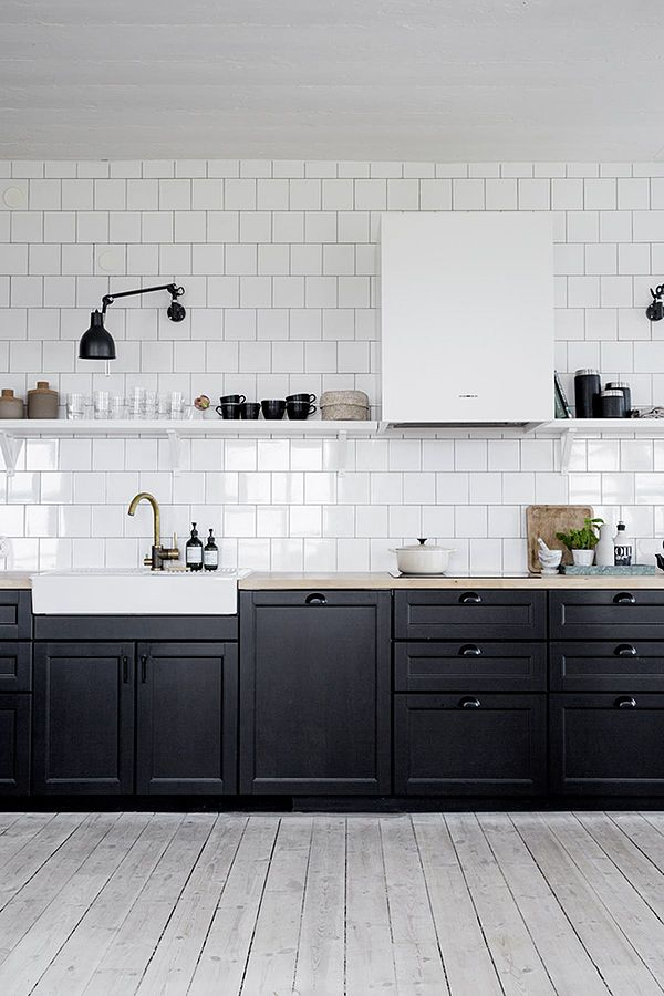 Black And White Kitchen Cabinets best 25+ black kitchen cabinets ideas on pinterest | gold kitchen