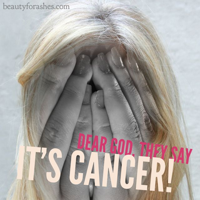 Dear God, they say it's cancer! by Aldyth Thomson. I went for a mammogram. To my horror, I found out that I had stage 2 breast cancer and was facing surgery, chemotherapy and radiation!