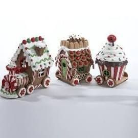 Shelley B Home and Holiday - Gingerbread Christmas Train , $84.50 (http://shelleybhomeandholiday.com/gingerbread-christmas-train/)