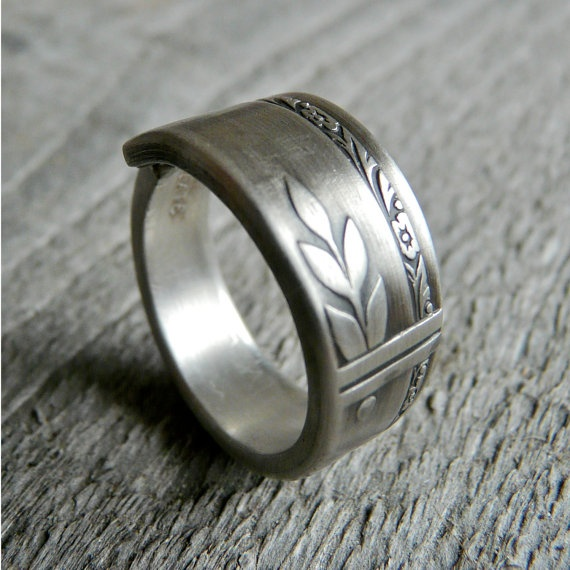 Beautiful Antique Silver Spoon Ring Grenoble by Revisions on Etsy