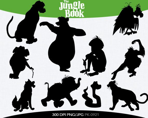 The Jungle Book Instant Download silhouette by ...