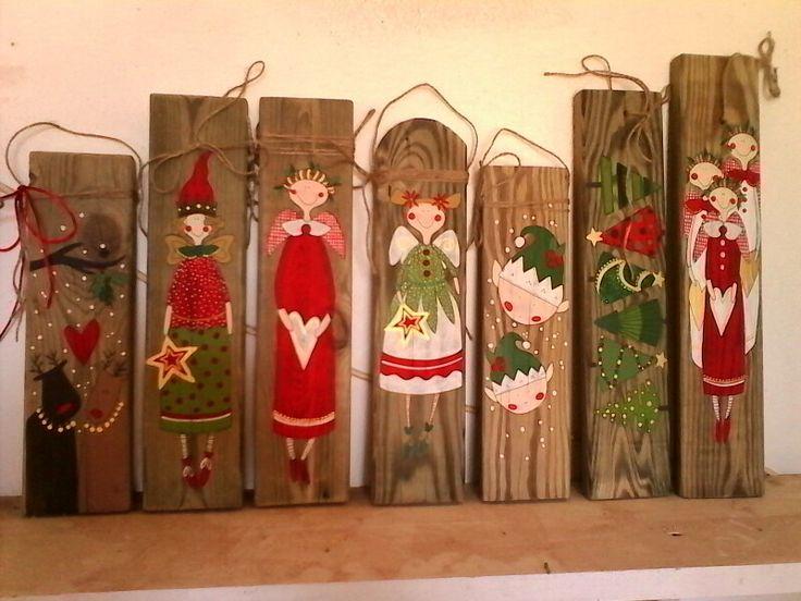Weihnachtsdeko handbemalt