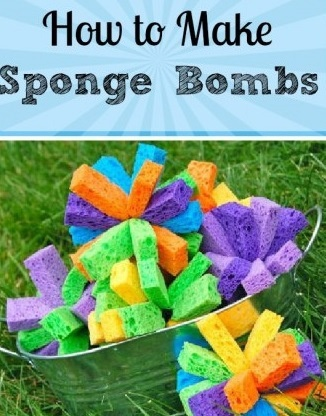 Make Sponge Bombs, made and ready for our first trip to the beach today!