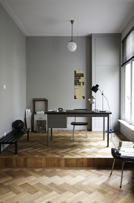 Parquetry in home office