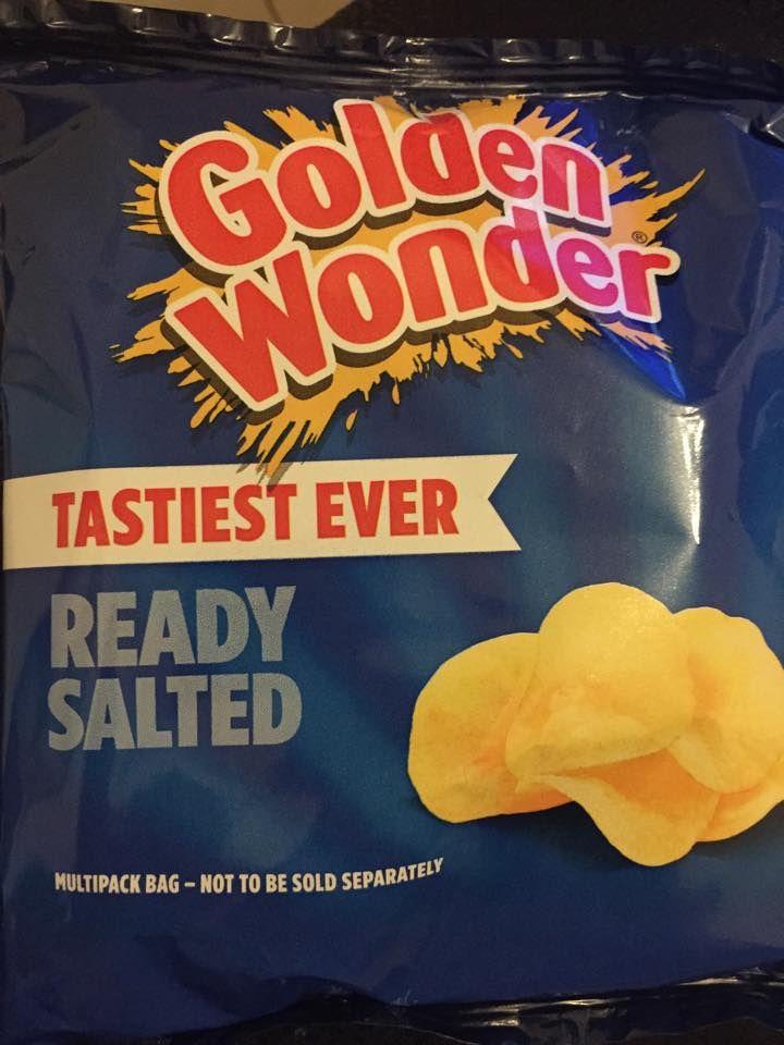Golden wonder ready salted crisps. Df, Sf & Ef. ★