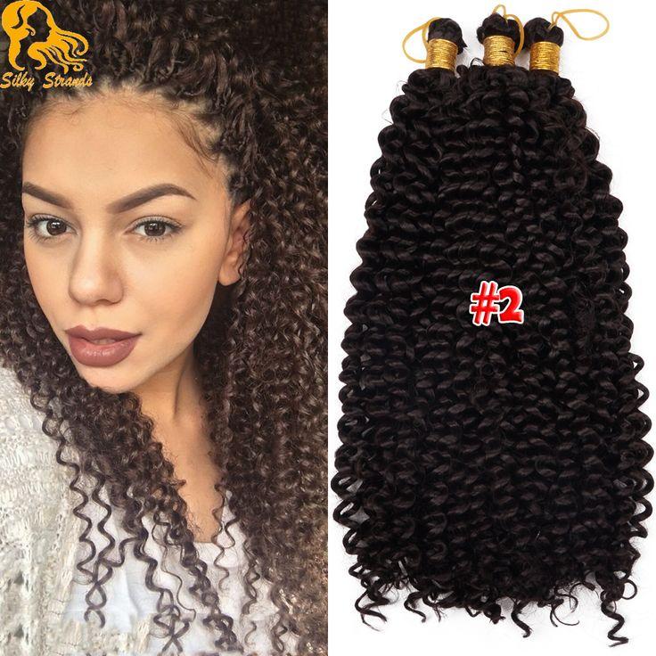 "14"" 100g/Pack Curly Crochet Braids Hair Water Wave Curly Crochet Braiding Hair Ombre Kinky Curly Kanekalon Braid Hair Synthetic"