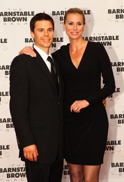 Burney Lamar and Niki Taylor attend the BarnstableBrown gala at the BarnstableBrown House on May 6 2011 in Louisville Kentucky