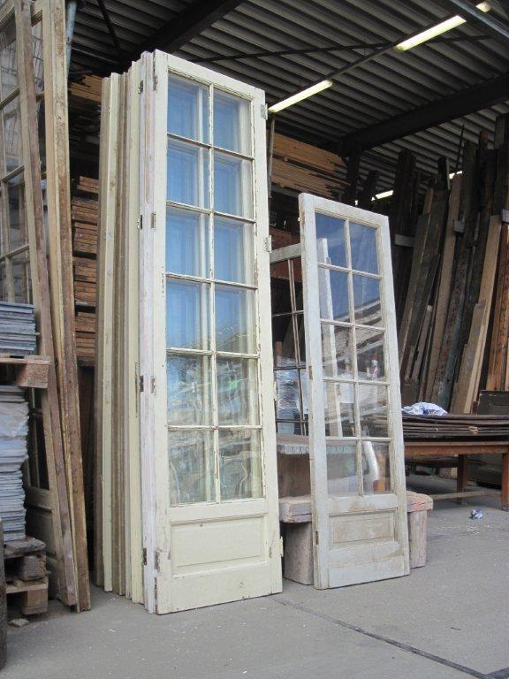 glasdeuren, puien, schuifdeuren, paneeldeuren oude bouwmaterialen bij jan van ijken eemnes www.oudebouwmaterialen.nl