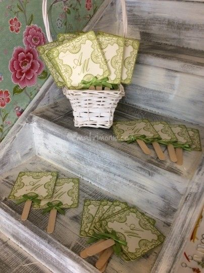 Ventagli verde pizzo paletta di Officina Creativa Hotglacé | Foto 3