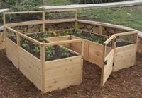 OLT Raised Cedar Garden Bed 8'x8' or 8'x12' With Deer Fence Options