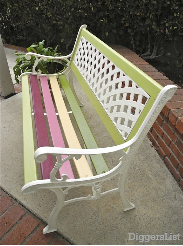 "ideas for my ""new to me"" garden bench seat"