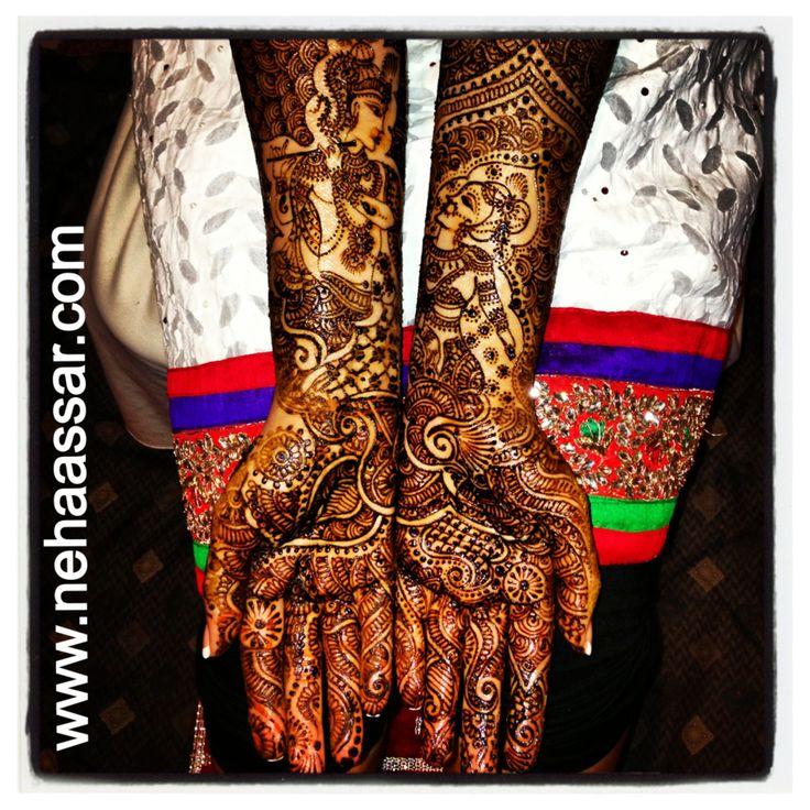 Radha Krishna Mehndi design up to the elbows  www.nehaassar.com
