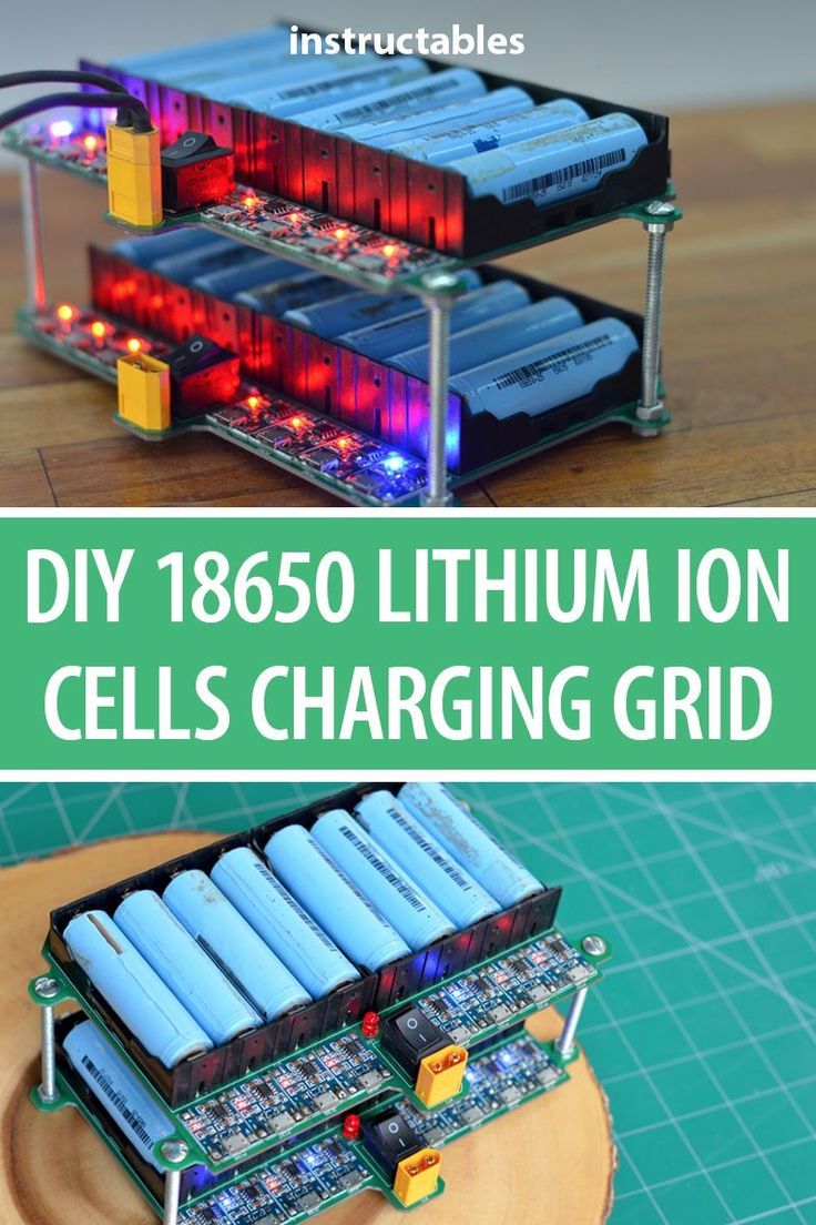 Build a 18650 Lithium Ion cells charging grid to balance charge all the cells of…