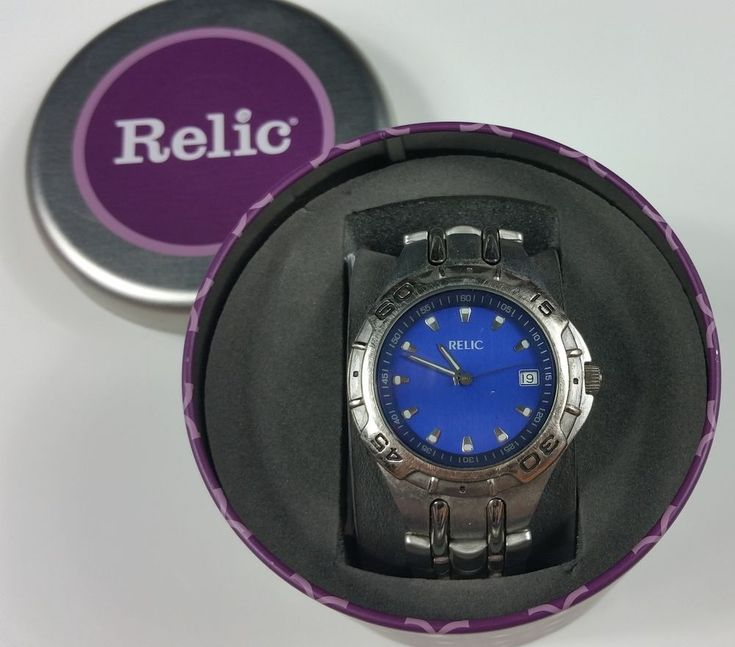 Relic by Fossil Garett Stainless Steel Lowe's Manager Watch | Jewelry & Watches, Watches, Parts & Accessories, Wristwatches | eBay!
