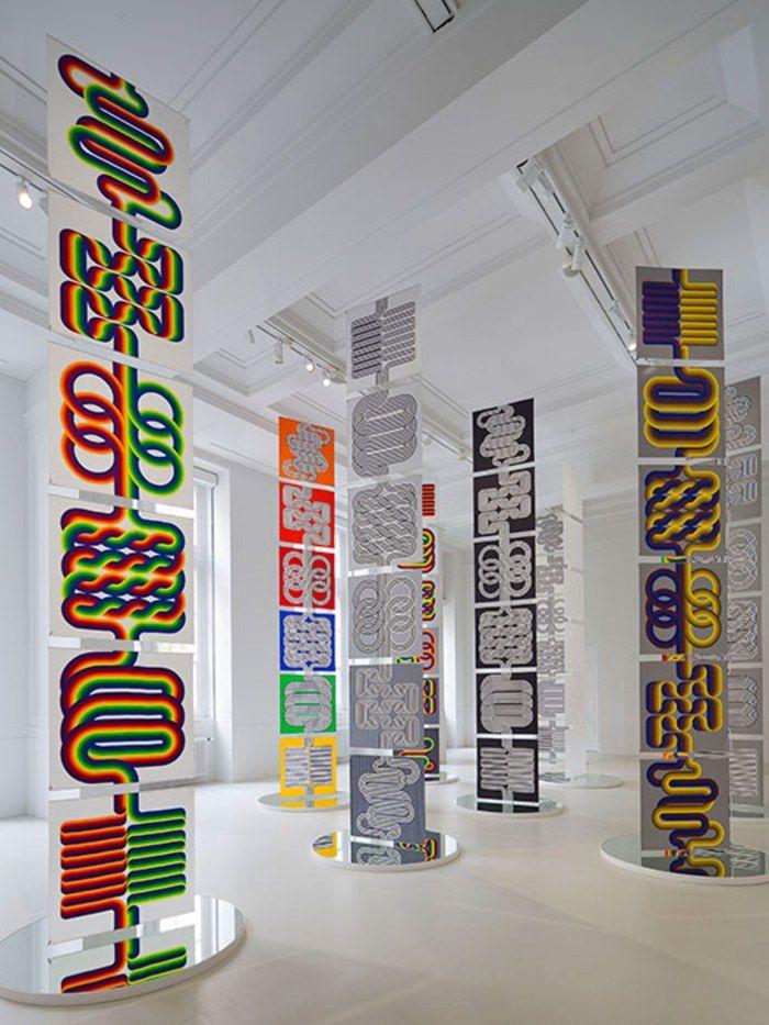 Scarves designed by artist Julio Le Parc
