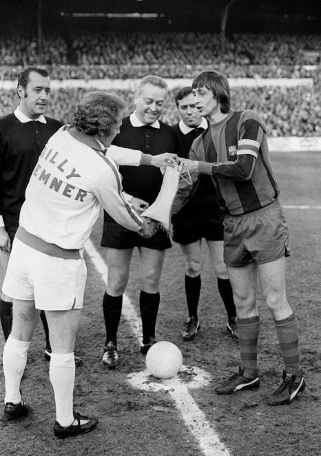 Billy Bremner & Johan Cruyff (European cup semi-final 1975)