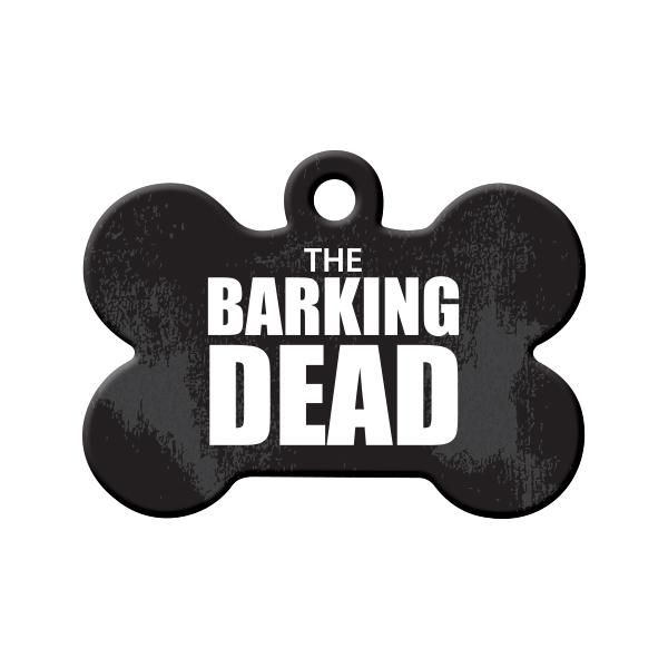 The 'Barking' Dead Dog Tag - Pets are going crazy over the new hit show 'The Barking Dead' - if your pet is a huge fan then this is the tag for them!