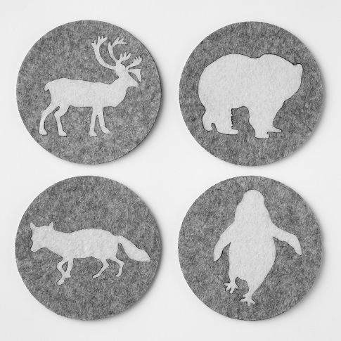 Cute woodland coaster from West Elm. BZ for stocking?