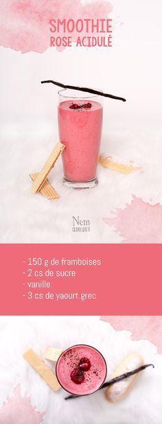Mes 5 smoothies colorés - rose - Nemgraphisme.com