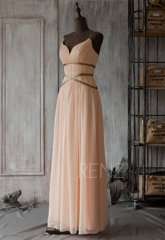 Brautjungfer kleid peach