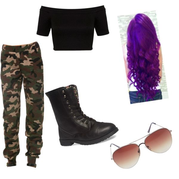 A fashion look from February 2015 featuring Miss Selfridge tops, Wet Seal ankle booties and Wet Seal sunglasses. Browse and shop related looks.
