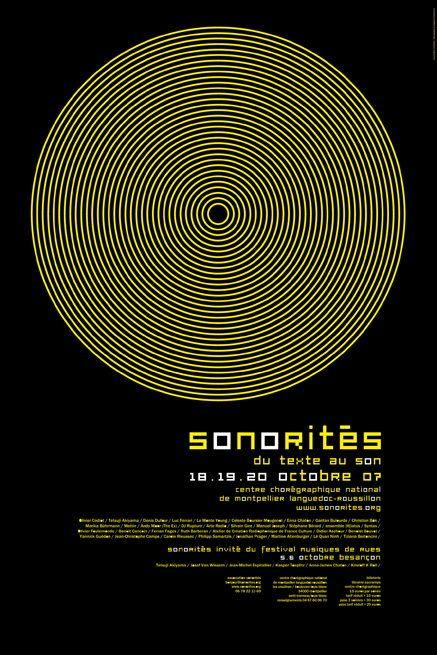 Sonorités graphiques: affiche de Vincent Menu
