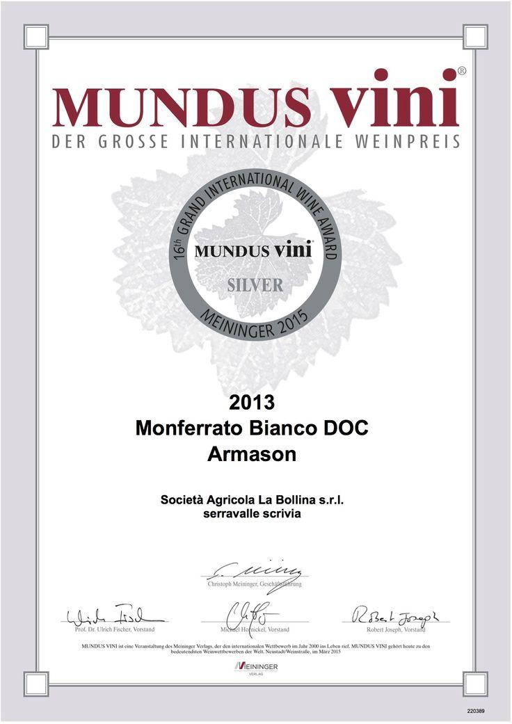 SIlver Medal #mundusvini#armason