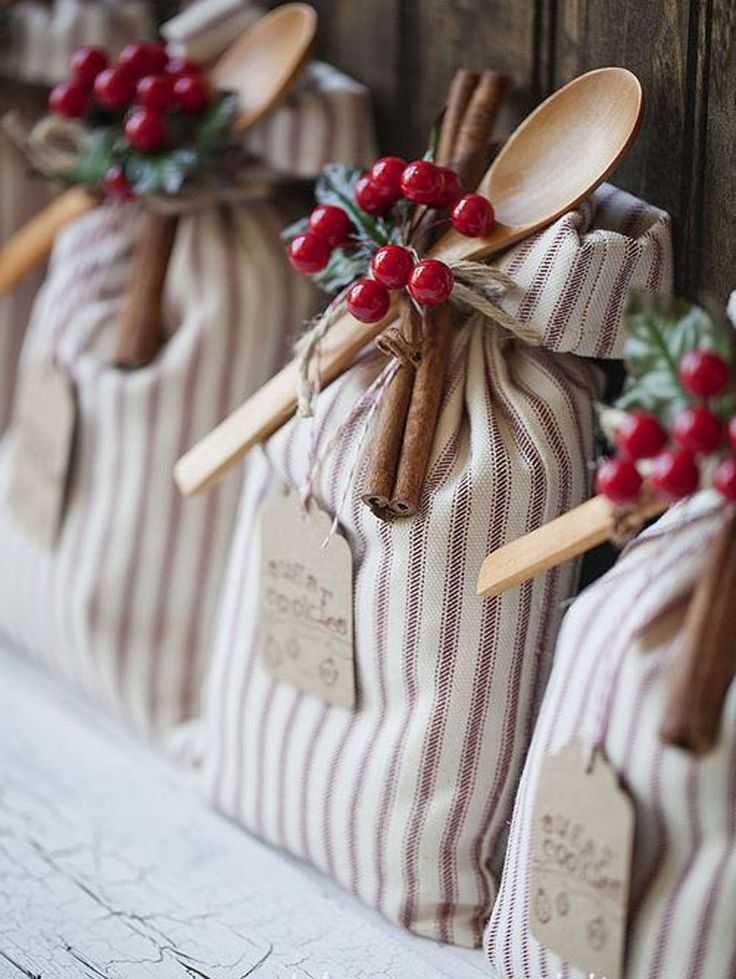 Handcrafted sugar cookie sack are simple to make and adorable to gift. Add holiday embellishments for a festive touch.