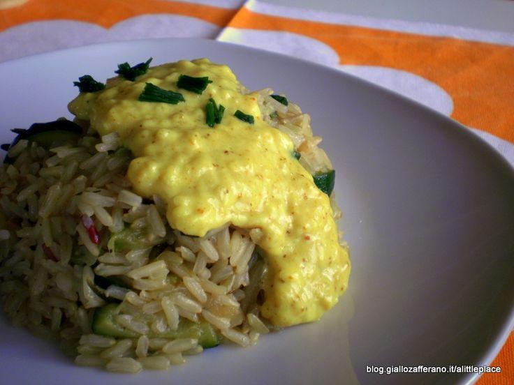 Riso Thai alle zucchine con crema allo zafferano - Thai rice with zucchini and saffron cream