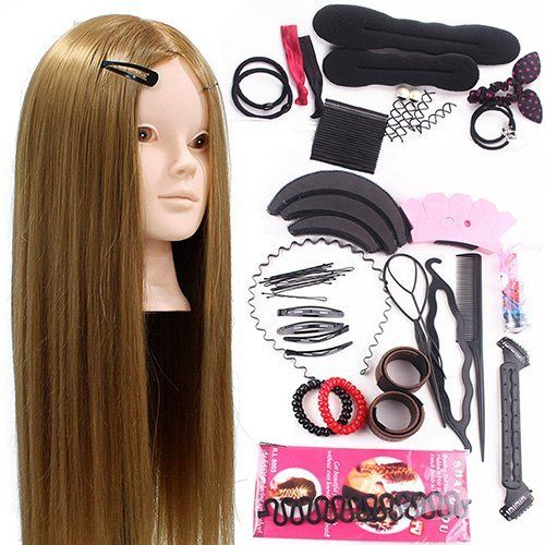 Neverland Beauty 24inch 50% Real Hair Training Head Hairdressing Mannequin Head With Makeup Function   Braid Set ** This is an Amazon Affiliate link. Read more reviews of the product by visiting the link on the image.