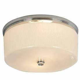 allen + roth 1.5-Sone 90 CFM Chrome Bathroom Fan with LightLow Allen, Lights Low, Hands Blown